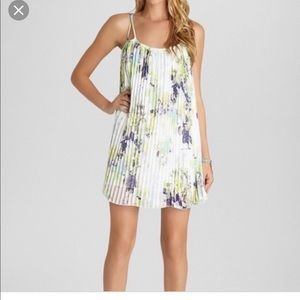 BCBG Floral A-line Pleated Dress